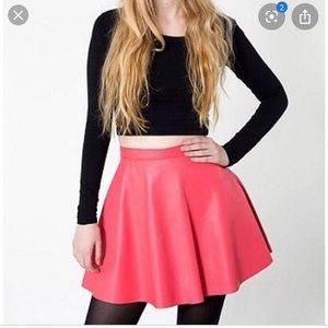 American apparel leather A line skirt💝